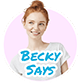 becky says