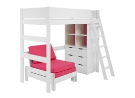 Anderson High Sleeper With Pink Chair