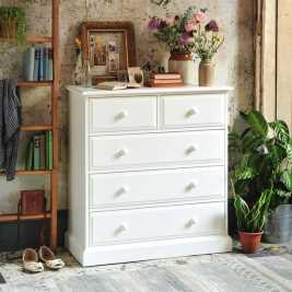 Burford Painted 2 Over 3 Chest of Drawers