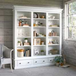Burford Painted Grand Bookcase