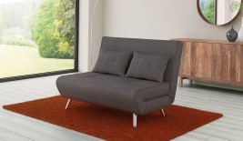 Cameo Grey Upholstered Sofa Bed