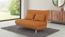 Cameo Orange Upholstered Sofa Bed