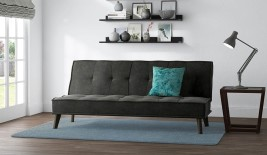 Cassia Dark Grey Upholstered Sofa Bed