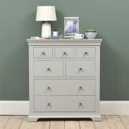 Chambery Grey Painted 7 Drawer Chest