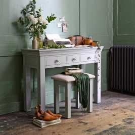 Chambery Grey Painted Console Dressing Table