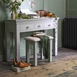 Chambery Grey Painted Dressing Table Stool