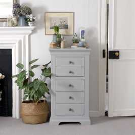 Chambery Grey Painted Tallboy