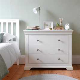 Chantilly White 3 Drawer Petite Chest