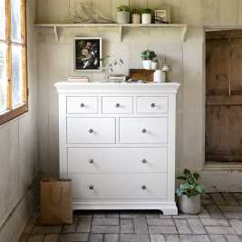 Chantilly White 7 Drawer Chest