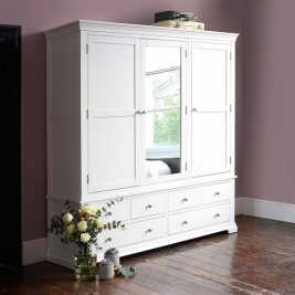 Chantilly White Grand Triple Wardrobe