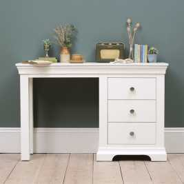 Chantilly White Single Pedestal Dressing Table