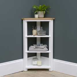 Chatsworth Painted Corner 4 Tier Shelf Unit