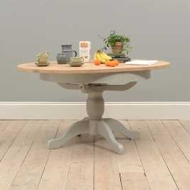 Chester Grey 110-145cm Round Ext. Dining Table