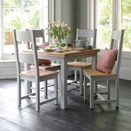 Chester Grey 90cm-155cm Square Ext. Dining Table