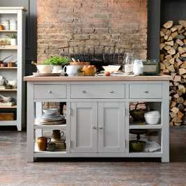 Chester Grey Large Kitchen Island