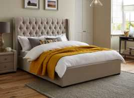 Deacon Fabric Upholstered Bed Frame