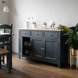 Ellwood Charcoal 3 Door Sideboard