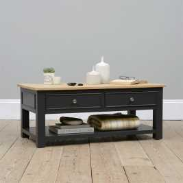 Ellwood Charcoal Coffee Table with Drawers