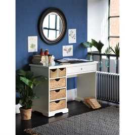 Farmhouse Painted Desk - Ivory