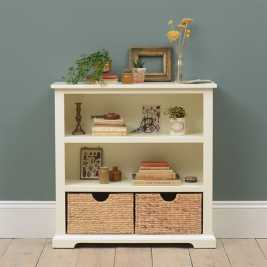 Farmhouse Painted Small Bookcase - Ivory