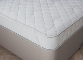 Flaxby Quilted Pure Cotton Mattress Protector