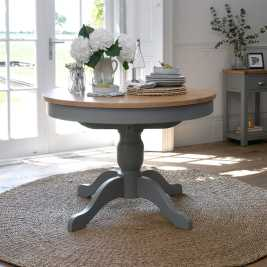 Florence Grey 110-145cm Round Extending Table