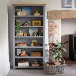 Florence Grey Large Bookcase