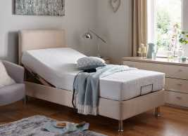Fontwell Mattress With Standard Oatmeal Adjustable Divan Bed On Legs - Firm BEIGE