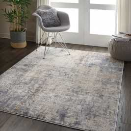 Gravity Textured Grey and Beige Rug (120 x 80cm)
