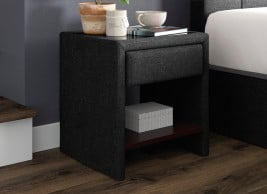 Harrow 1 Drawer Upholstered USB Charging Bedside Chest