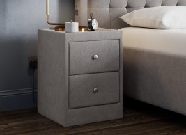 Hodsgon 2 Drawer Upholstered Bedside Table