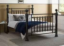 Hugo Nickel Metal Bed Frame