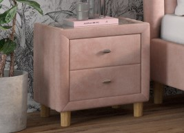 Knox Velvet Bedside Table