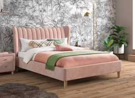 Knox Velvet Upholstered Bed Frame