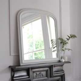 Light Grey Overmantel Mirror