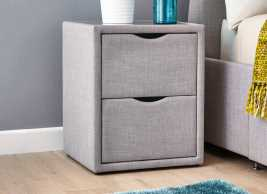 Lucia / Wilson Silver 2 Drawer Bedside Table