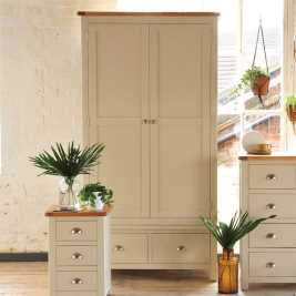 Lundy Stone 2 Drawer Wardrobe