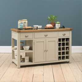Lundy Stone Large Kitchen Island