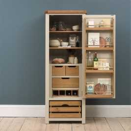 Lundy Stone Narrow Larder with Oak Crate