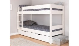 Mi Zone Compact Wooden Bunk Bed with Underbed Trundle