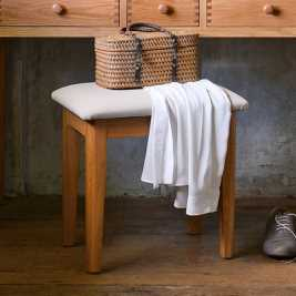 Milton Oak Dressing Table Stool