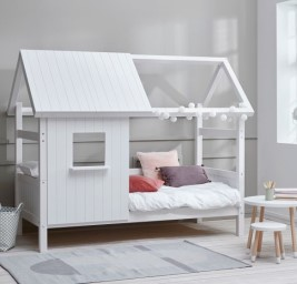 Nordic Hut White Wooden Treehouse Bed