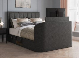 Osaka Upholstered Ottoman Bed Frame with 32 SMART TV