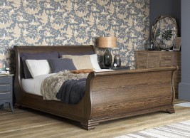 Otis Wooden Sleigh Bed Frame