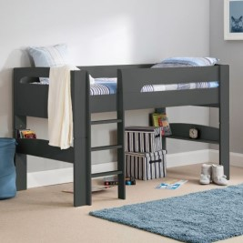 Pluto Anthracite Wooden Mid Sleeper