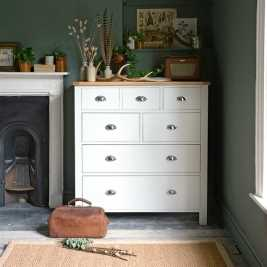 Portland Grey 7 Drawer Chest of Drawers