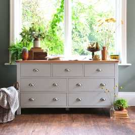 Portland Grey Wide 7 Drawer Chest