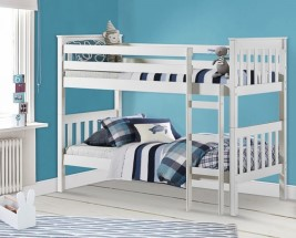 Portland Stone White Wooden Bunk Bed