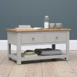Portobello Grey Coffee Table With Drawers