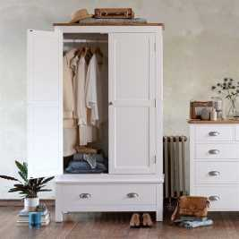 Snowshill White Gents Wardrobe
